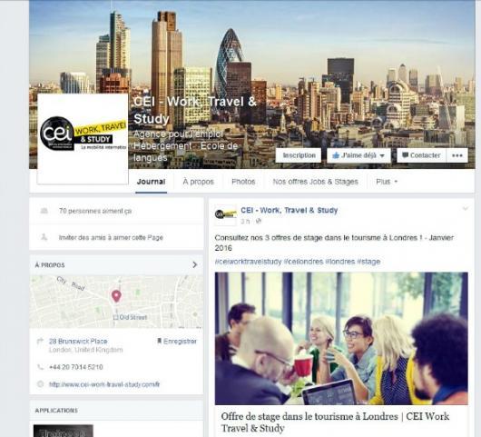 Le CEI Londres et Dublin rejoint la communauté facebook