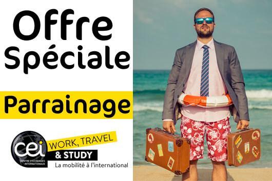 Offre spéciale témoignage CEI Work Travel and Study