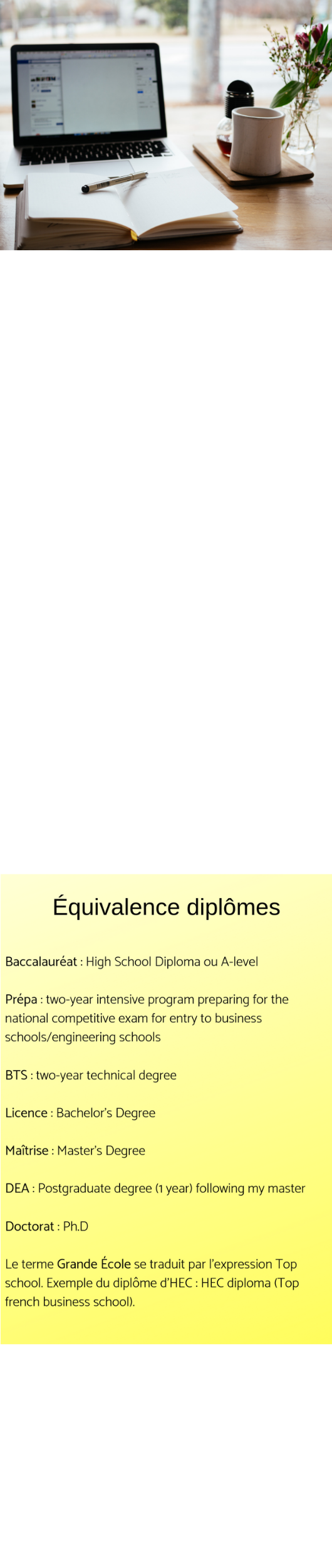 Diplome français - anglais