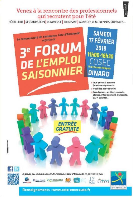 Retrouvez-nous au forum de l'emploi saisonnier à Dinard