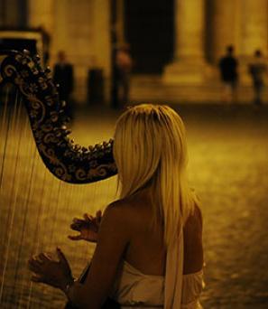 harpist-girl-ireland-dublin-music