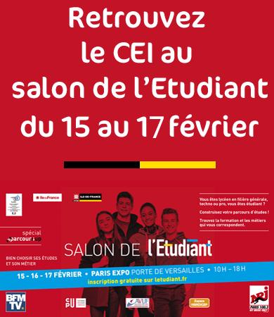 Le CEI au salon de l'Etudiant à Paris